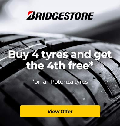 Bridgestone Potenza 4 for 3 Offer – December 2019