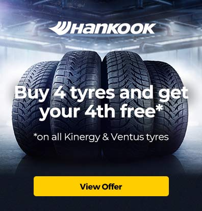 Hankook – Buy 4 tyres and get your 4th free